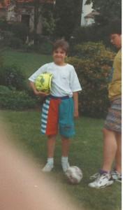 Sascha und der Fußball